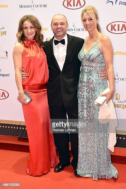 Ina Menzer Sven Ottke and Monic Frank attend the German Sports Media Ball at Alte Oper on November 7 2015 in Frankfurt am Main Germany