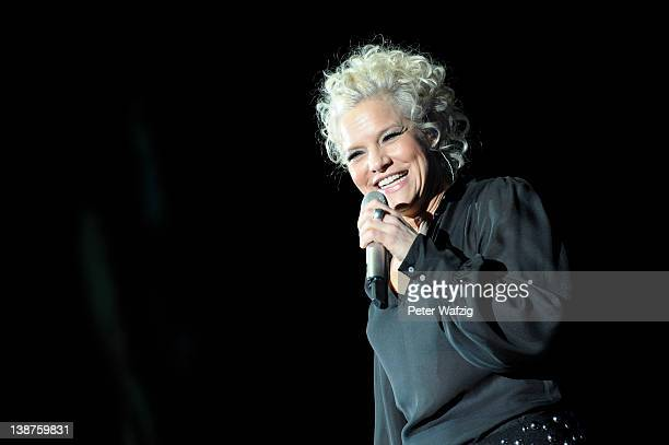 Ina Mueller performs on stage at the MitsubishiElectricHalle on February 11 2012 in Duesseldorf Germany