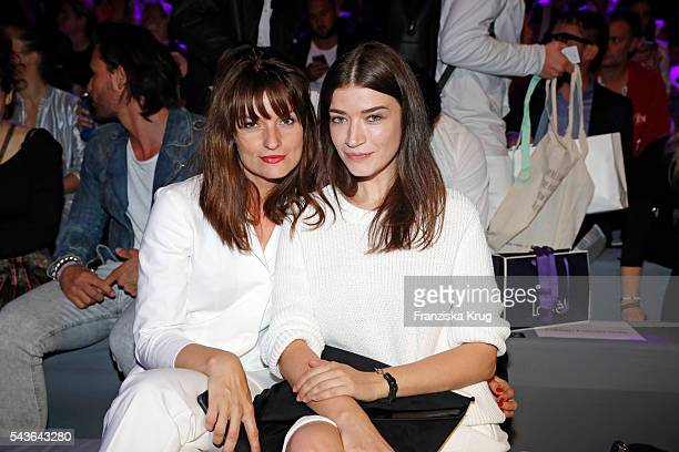 Ina Paule Klink and Anna Bederke attend the Laurel show during the MercedesBenz Fashion Week Berlin Spring/Summer 2017 at Erika Hess Eisstadion on...