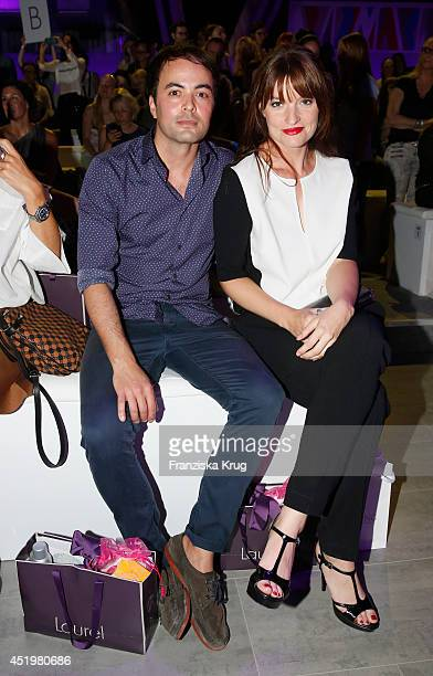 Ina Paule Klink and Nicolai Kinski attend the Laurel show during the MercedesBenz Fashion Week Spring/Summer 2015 at Erika Hess Eisstadion on July 10...