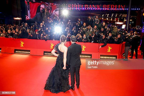 Ina Paule Klink and Nikolai Kinski attend the 'Hail Caesar' Premiere during the 66th Berlinale International Film Festival on February 11 2016 in...
