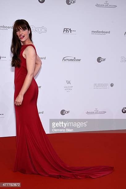 Ina Paule Klink arrives for the German Film Award 2015 Lola at Messe Berlin on June 19 2015 in Berlin Germany