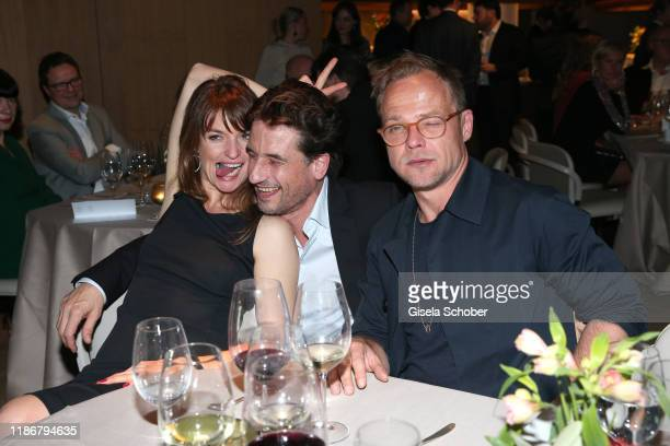 Ina Paule Klink, Oliver Mommsen and Matthias Koeberlin during the ARD advent dinner hosted by the program director of the tv station Erstes Deutsches...