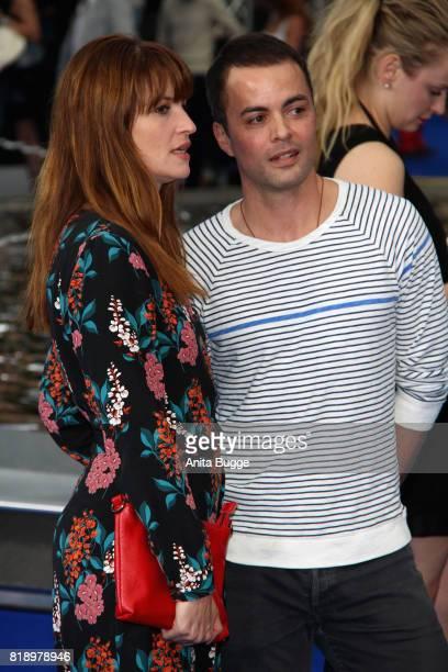 Ina Paule Klink und Nikolai Kinski pose for the press during the 'Valerian Die Stadt der Tausend Planeten' premiere at CineStar on July 19 2017 in...