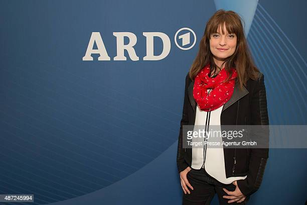 Ina Paule Klink visits the ARD stand at 2015 IFA Tech Fair on September 7 2015 in Berlin Germany