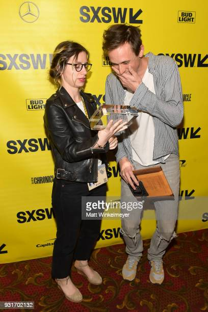 Ina Pira and Jeffrey Bowers of Vimeo and Vimeo Staff Picks Award winner Danny Madden attends the SXSW Film Awards Show 2018 SXSW Conference and...