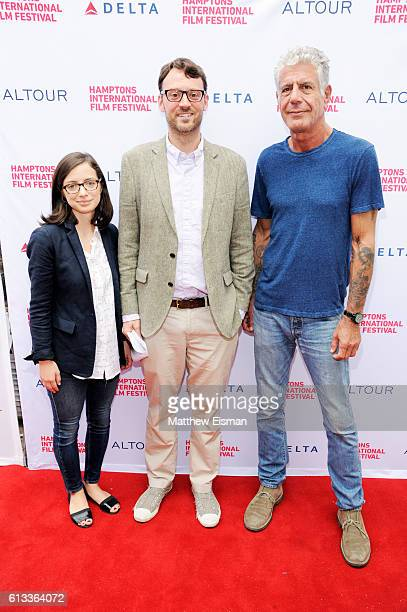 Ina Pira David Nugent and Anthony Bourdain attend the Jeremiah Tower The Last Magnificent Screening during the Hamptons International Film Festival...