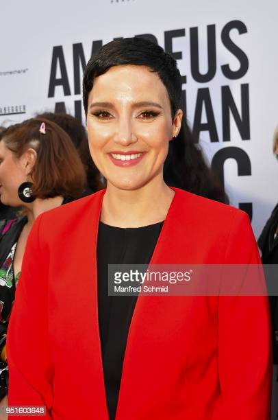 Ina Regen poses at the red carpet during the Amadeus Award 2018 on April 26 2018 in Vienna Austria