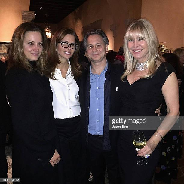 Ina Treciokas CEO of Full Picture Desiree Gruber Jason Binn and Irena Medavoy at Town Country Golden Globes Party circa January 2016 in Los Angeles CA