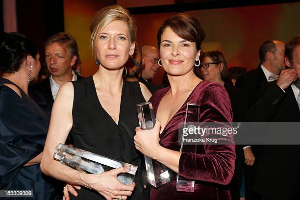 Ina Weisse and Barbara Auer attend the German TV Award 2012 at Coloneum on October 2 2012 in Cologne Germany
