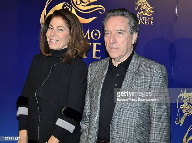 Inaki Gabilondo and Lola Carretero attend 'El Ultimo Jinete' Premiere In Madrid at Teatros Del Canal on December 5 2012 in Madrid Spain