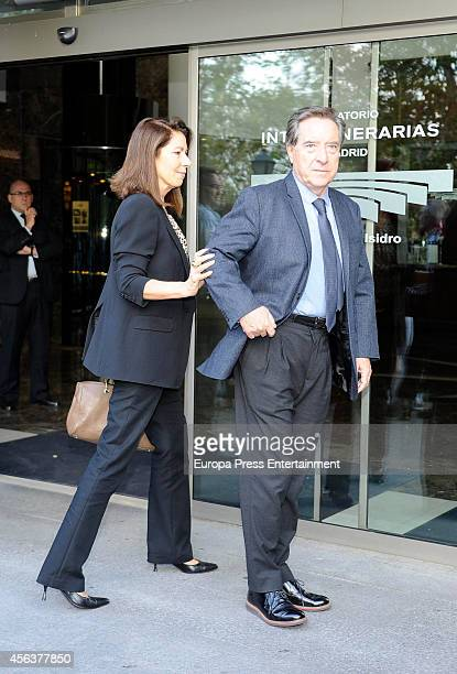 Inaki Gabilondo and Lola Carretero attend the funeral chapel for Miguel Boyer minister of Economy Treasury and Commerce from 1982 to 1985 at San...