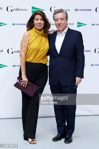 Inaki Gabilondo and wife Lola Carretero attend Gentleman Awards 2019 at Lazaro Galdiano Museum on June 13 2019 in Madrid Spain