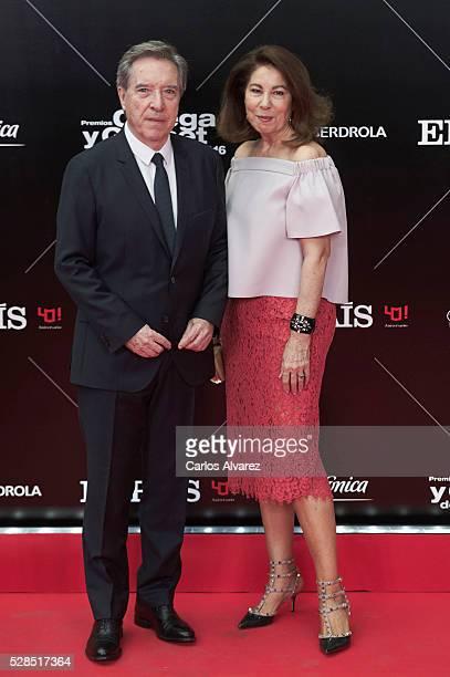Inaki Gabilondo and wife Lola Carretero attend Ortega Y Gasset journalism awards 2016 at Palacio de Cibeles on May 05 2016 in Madrid Spain