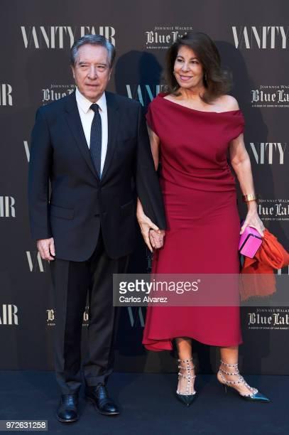 Inaki Gabilondo and wife Lola Carretero attend the Vanity Fair journalist award 2018 at Santo Mauro Hotel on June 12 2018 in Madrid Spain