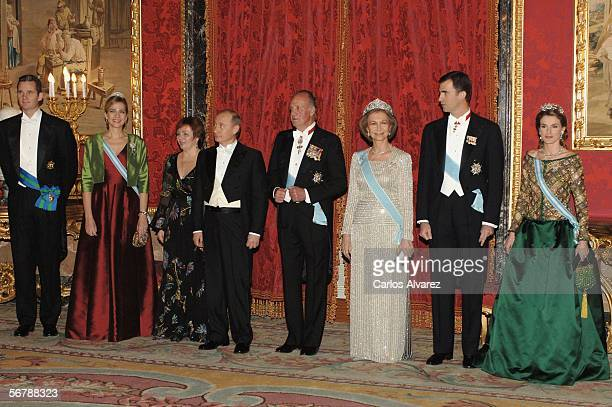 Inaki Urdangarin and his wife Infanta Cristina Russian President Vladimir Putin and his wife Lyudmila Spain's King Juan Carlos and Queen Sofia Crown...