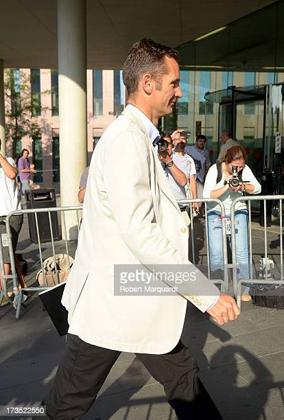 Inaki Urdangarin arrives to 'Ciutat de la Justica' to answer questions in front of a judge in regards to the 'Institut Noos' case on July 16 2013 in...
