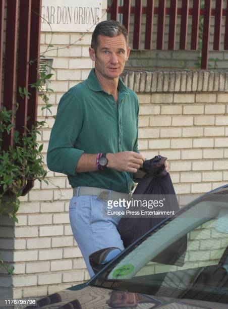 Inaki Urdangarin is seen arriving at 'Fundacion Hogar Don Orione' on September 24 2019 in Pozuelo de Alarcon Spain It is the second time that...