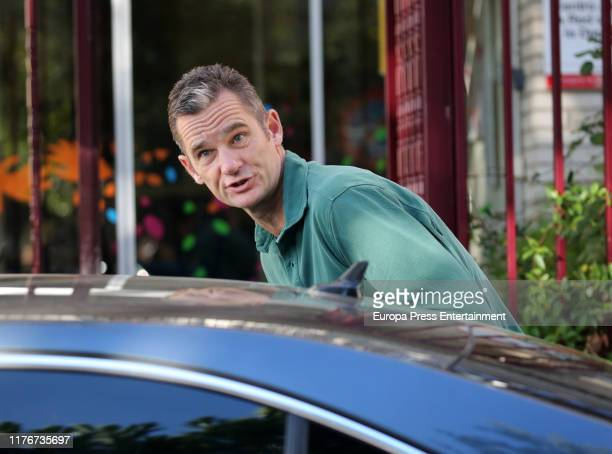 Inaki Urdangarin is seen arriving at 'Fundacion Hogar Don Orione'on September 24 2019 in Pozuelo de Alarcon Spain It is the second time that...