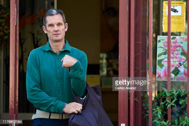 Inaki Urdangarin is seen leaving 'Fundacion Hogar Don Orione' on October 08 2019 in Pozuelo de Alarcon Spain Urdangarin has been approved to leave...