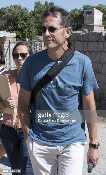 Inaki Urdangarin's friends and relatives are seen visiting him at prison on July 14 2018 in Brieva Spain