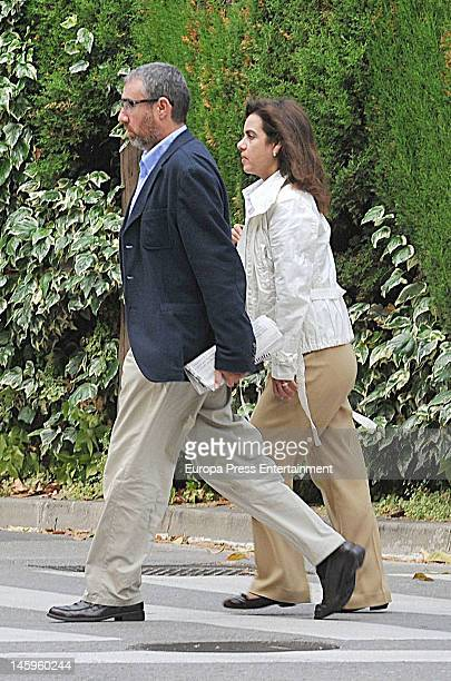 Inaki Urdangarin's ex business partner Diego Torres and his wife Ana Maria Tejeiro are seen on June 7 2012 in Barcelona Spain