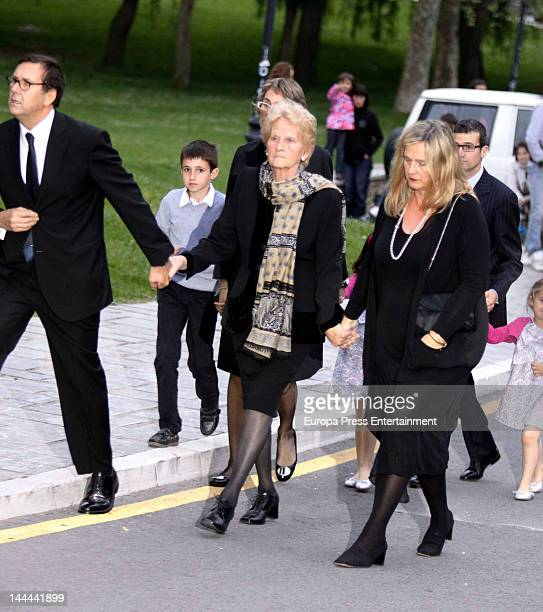 Inaki Urdangarin's mother Claire Liaebert attends the funeral of Juan Maria Urdangarin father of Inaki Urdangarin and father in law of princess...