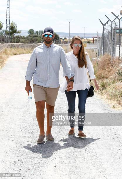 Inaki Urdangarin's nephew Jan Gui Urdangarian is seen visiting Inaki Urdangarin at prison on July 22 2018 in Brieva Spain