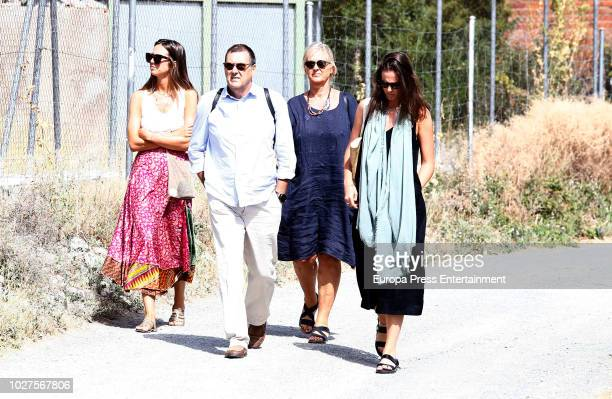 Inaki Urdangarin's sister Ana Urdangarin and her husband Carles Gui are seen visiting Inaki Urdangarin at prison on August 4 2018 in Brieva Spain