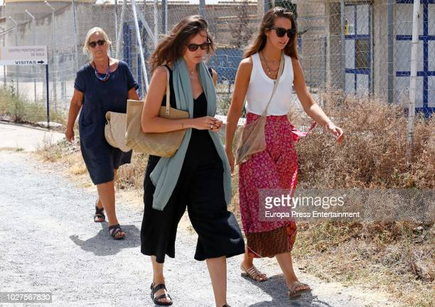 Inaki Urdangarin's sister Ana Urdangarin is seen visiting Inaki Urdangarin at prison on August 4 2018 in Brieva Spain