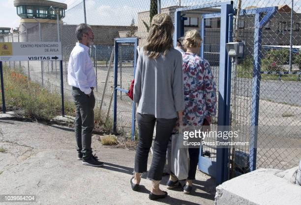 Inaki Urdangarin's sisters Laura Urdangarin and Ana Urdangarin are seen visiting Inaki Urdangarin at prison