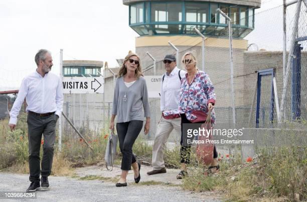 Inaki Urdangarin's sisters Laura Urdangarin and her husband and Ana Urdangarin and her husband Carles Gui are seen visiting Inaki Urdangarin at prison