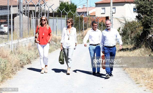 Inaki Urdangarin's sisters Laura Urdangarin and Lucia Urdangarin are seen visiting Inaki Urdangarin at prison on July 28 2018 in Brieva Spain