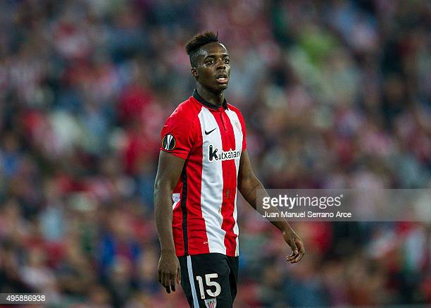 Inaki Willams of Athletic Club reacts during the UEFA Europa League match between Athletic Club and FK Partizan at San Mames Stadium on November 5...