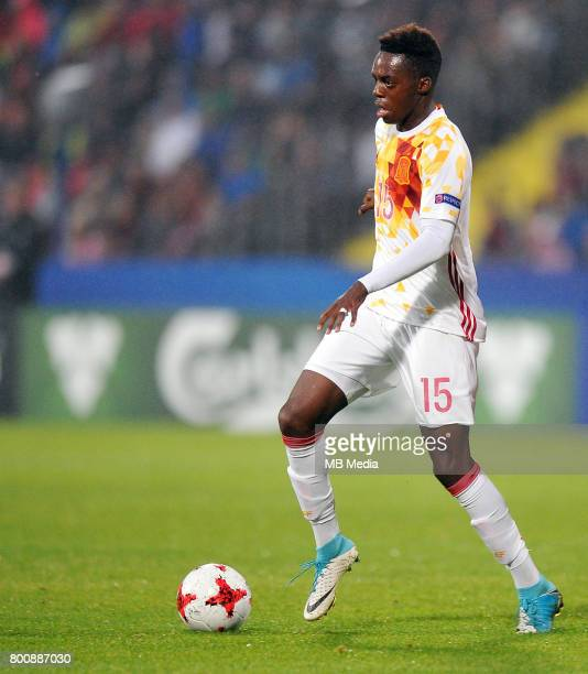 Inaki Williams during the UEFA European Under21 match between Serbia and Spain at Arena Bydgoszcz on June 23 2017 in Bydgoszcz Poland
