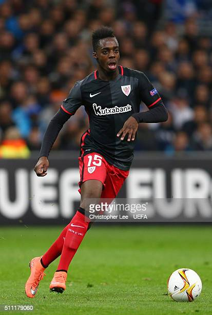 Inaki Williams of Athletic Club Bilbao in action during the UEFA Europa League Round of 32 match between Marseille and Athletic Bilbao at Stade...
