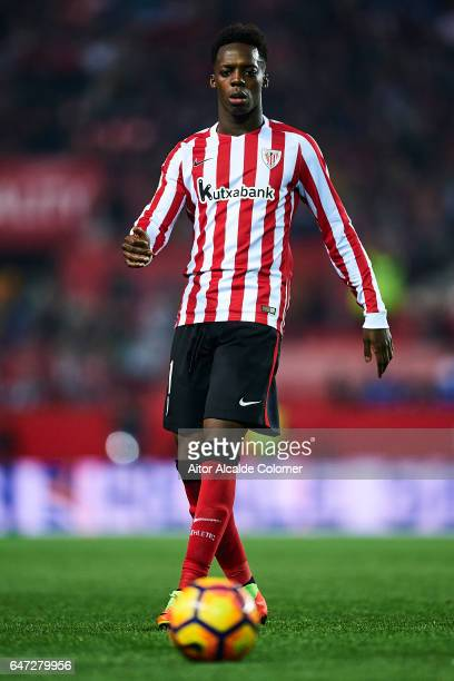 Inaki Williams of Athletic Club in action during the La Liga match between Sevilla FC and Athletic Club de Bilbao at Estadio Ramon Sanchez Pizjuan on...