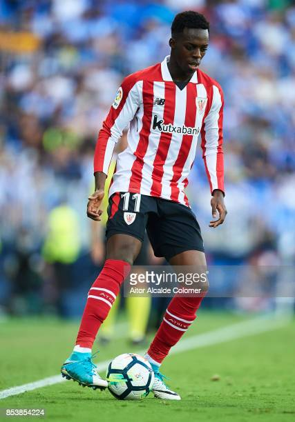 Inaki Williams of Athletic Club in action during the La Liga match between Malaga and Athletic Club at Estadio La Rosaleda on September 23 2017 in...