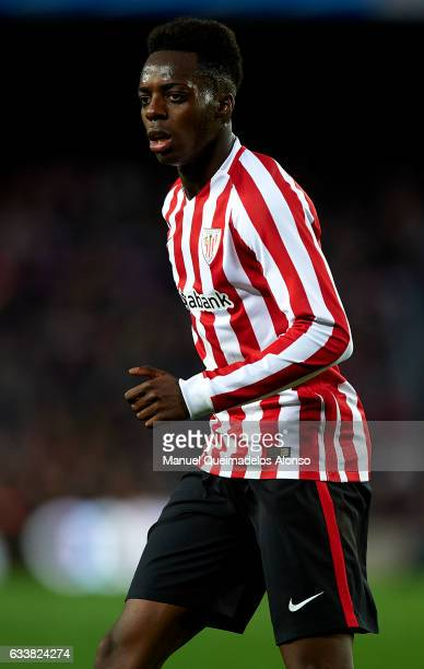 Inaki Williams of Athletic Club looks on during the La Liga match between FC Barcelona and Athletic Club at Camp Nou Stadium on February 4 2017 in...