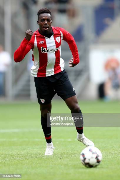 Inaki Williams of Bilbao runs with the ball during the third place match between MSV Duisburg and Athletic Bilbao at SchauinslandReisenArena on July...