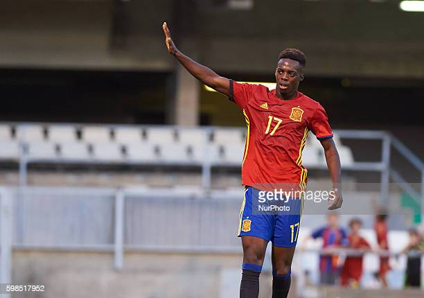 Inaki Williams of Spain U21 celebrates his goal during the UEFA Euro U21 2017 Qualifiers match at Nou Estadi Castlia Castellon de la Plana