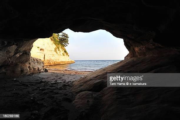 Inamura beach cave
