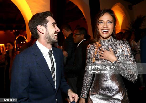 Inanna Sarkis and a guest attend the Cadillac Oscar Week Celebration at Chateau Marmont on February 21 2019 in Los Angeles California