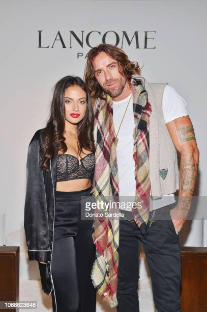 Inanna Sarkis and Darais attend Lancôme x Vogue Holiday Event at Delilah West Hollywood on November 29 2018 in West Hollywood California