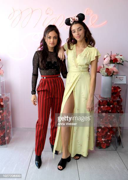 Inanna Sarkis and Khadijha Red Thunder attend the #MinnieStyle Suite celbrating Minnie Mouse's 90th Anniversary at Nomo Soho Hotel on September 5...