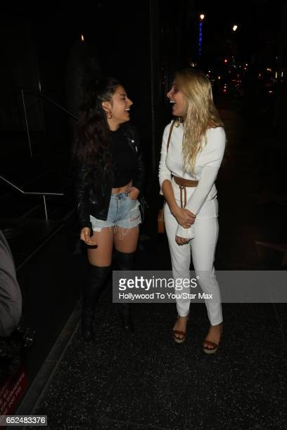 Inanna Sarkis and Lele Pons are seen on March 11, 2017 in Los Angeles, CA.