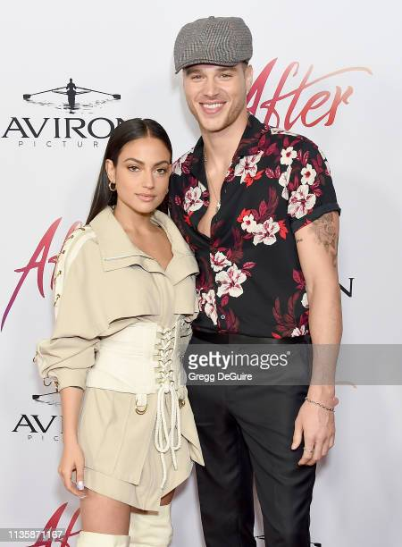 Inanna Sarkis and Matthew Noszka attend the Los Angeles Premiere Of Aviron Pictures' After at The Grove on April 8 2019 in Los Angeles California
