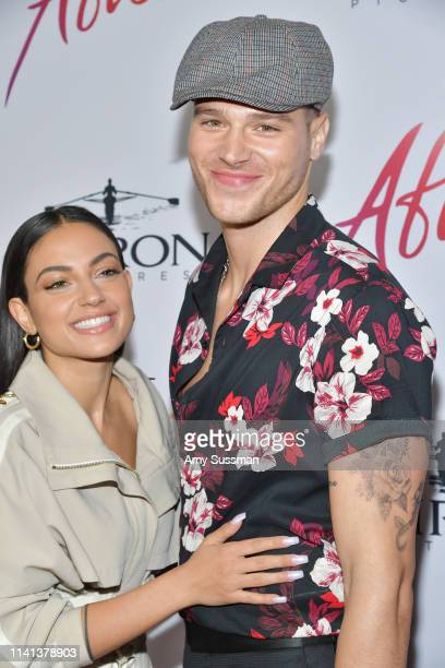 """Inanna Sarkis and Matthew Noszka attend the premiere of Aviron Pictures' """"After"""" at The Grove on April 08, 2019 in Los Angeles, California."""