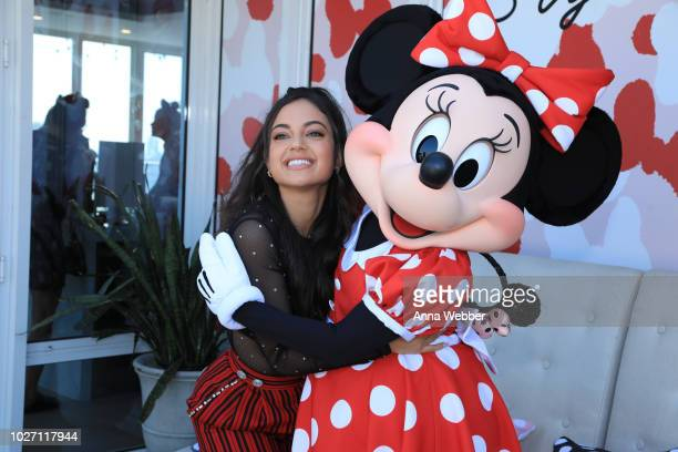 Inanna Sarkis and Minnie Mouse attend the #MinnieStyle Suite celbrating Minnie Mouse's 90th Anniversary at Nomo Soho Hotel on September 5 2018 in New...