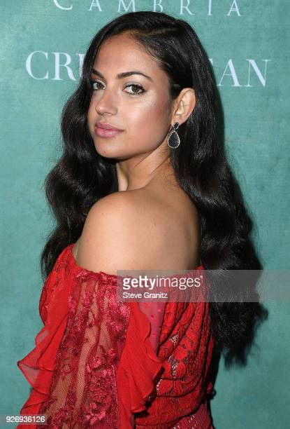 Inanna Sarkis arrives at the 11th Annual Celebration Of The 2018 Female Oscar Nominees Presented By Women In Film at Crustacean on March 2 2018 in...